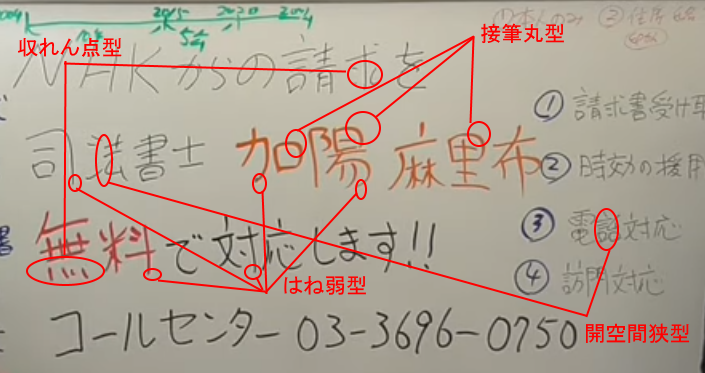 立花孝志さんの筆跡