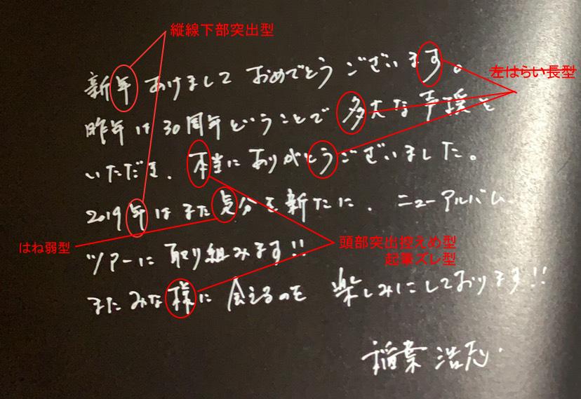 稲葉さんの筆跡診断