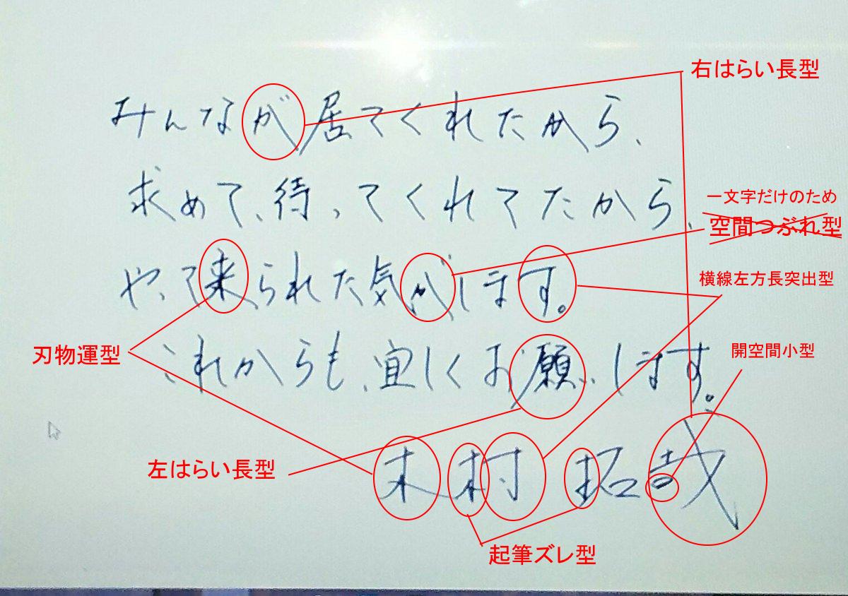 木村拓哉さんの筆跡診断