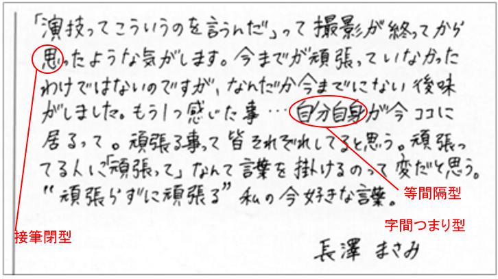 長澤まさみさんの筆跡診断