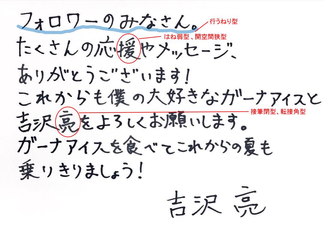 吉沢亮さんの筆跡診断