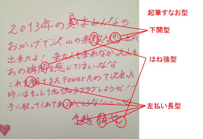 手越祐也さんの筆跡診断