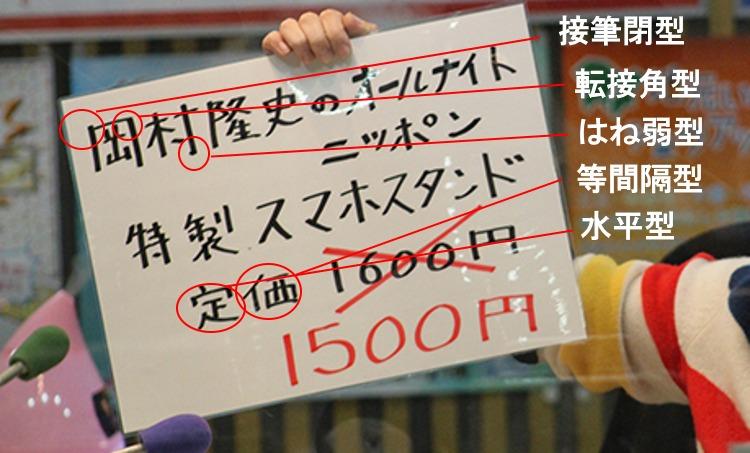 岡村隆史さんの筆跡診断