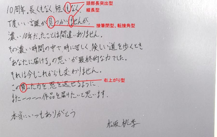 松坂桃李さんの筆跡診断
