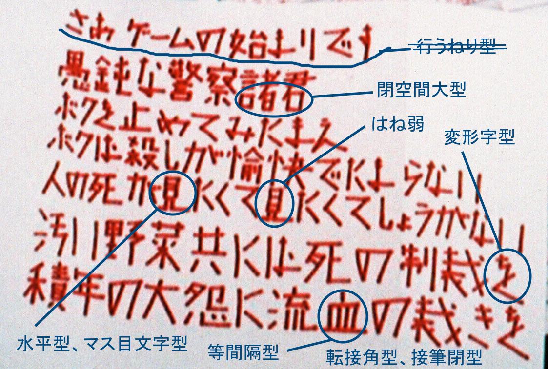 酒鬼薔薇聖斗の筆跡診断