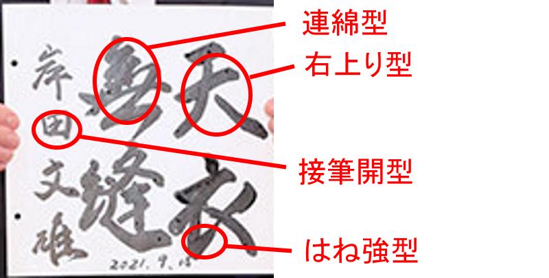 岸田文雄さんの筆跡診断
