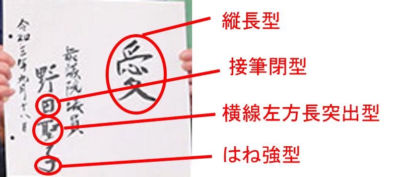 野田聖子さんの筆跡診断