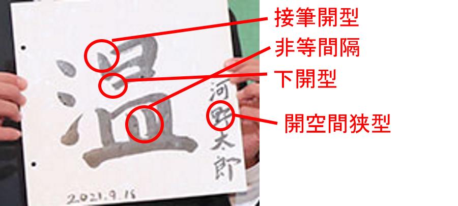 河野太郎の筆跡診断